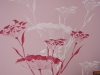 fresque chambre fleurs